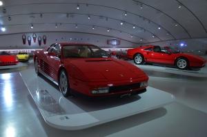 Enzo Ferrari Museo. The car in the foreground is the 1984 Testarossa - the one that started my fascination.